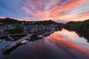 Sunset Over Historic Occoquan by ryangallagherart