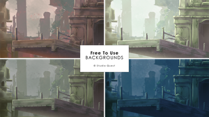 [Free To Use] Whimsical Ruins Backgrounds by studioquesthq