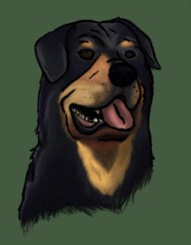 Rotty Painting by SAJAC
