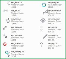 Aero Left Handed cursor pack by nyritha