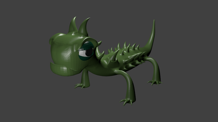 Lizard Render by simdragon90