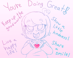 SENDING POSITIVE VIBES YOUR WAY by Strawberry-Spritz