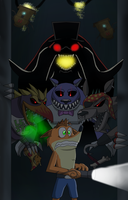 Halloween 2014-Five nights with a Bandicoot by rizegreymon22