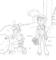 Bunnies and lambs [rough] by 1Unicorn-on-the-cob
