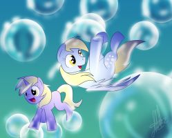 derpy and dinky doo by xWhiteDreamsx