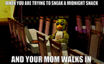 When you are trying to sneak a midnight snack Meme by gold94chica