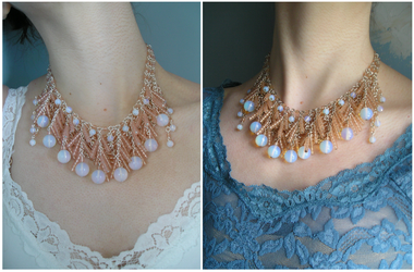 Ethereal Plumes necklace worn by HeddaLee