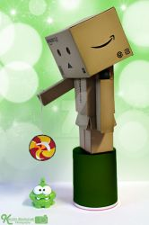 Danbo And Omnom by Sketchylious