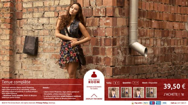E-commerce concept layout by duduOmag