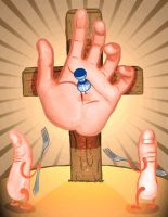 Crucifixion of the Hand by okayso