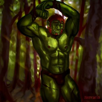 Forest Trap - Orctober Tuskbuddy Exchange Part 2 by ZanVarin