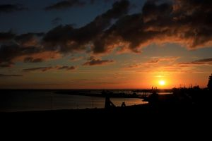Sunset over Cuxhaven by crazylama