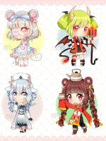 [CLOSED] Auction - Collab Adoptables by Shika-Adopts