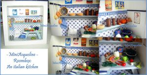 Italian kitchen - roombox by miniacquoline