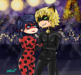 ladybug + chat noir [request] by guttural
