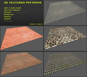 Free 3D textures pack 19 by Yughues