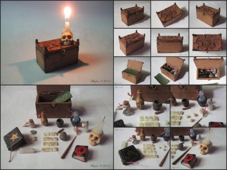 Mage's Chest, miniature set by Maylar