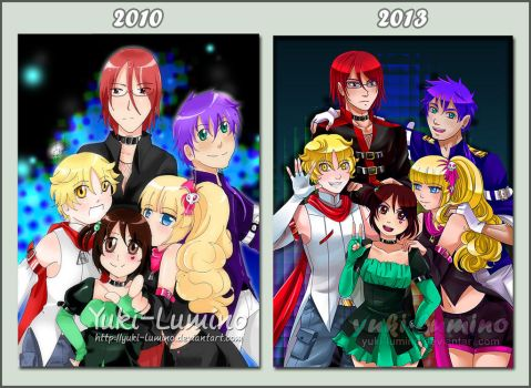 Five Leaf Clover- Before and After by Yuki-Lumino