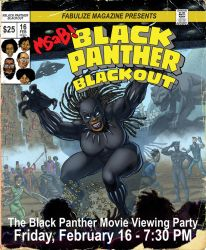 Poster for The MSAB Black Panther Viewing Party by LeighWalls-Artist