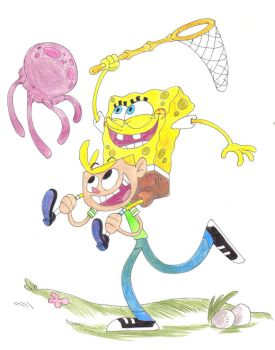 Spongebob and Jimmy by Philip-F1