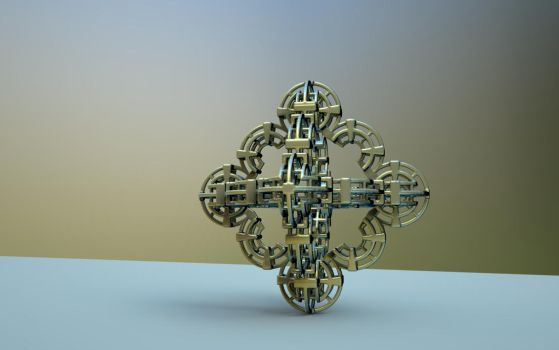Mandelbulb 3D print on Shapeways by nic022