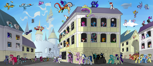 Canterlot Routine by Underpable