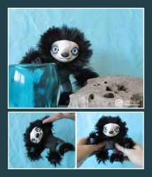 Black Mini Sloth by LimitlessEndeavours