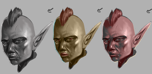 Goblin portraits by DMonkeyillustrations