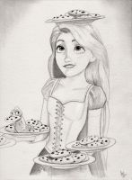 Rapunzel (Tangled Graphite Drawing) by julesrizz