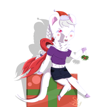 Digicember Day 3: A present for you! by Skythedragonwolf