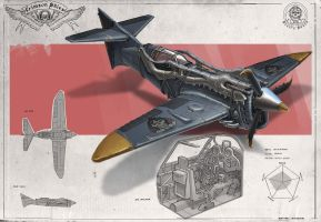 Redesign:Crimson Skies(SkyScreamer medium fighter) by martydesign