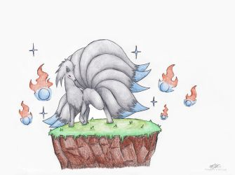 The Silver Ninetales by Tomatem13