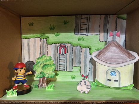 Saturn Valley Diorama (Amiibo Home) by BLTspirit
