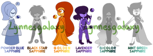 Sapphire Adopts! [OPEN 3/6] by LynnesGalaxy