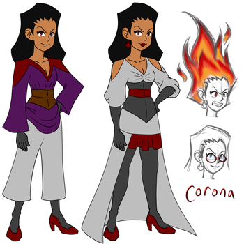 Corona the Fire Witch by ProjectHazoid