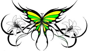 tribal butterfly 2 by KatieConfusion