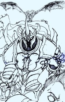 LoL- Mordekaiser (Uncolored) by Dane-of-Celestia