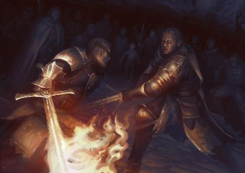 Beric vs the Hound by JoelChaimHoltzman