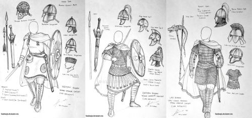 Late Roman Empire Women Warriors Concept Sketch by Gambargin