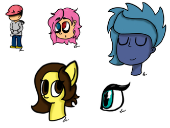 Random and  Bored PS Doodles by iLoveCreativity14