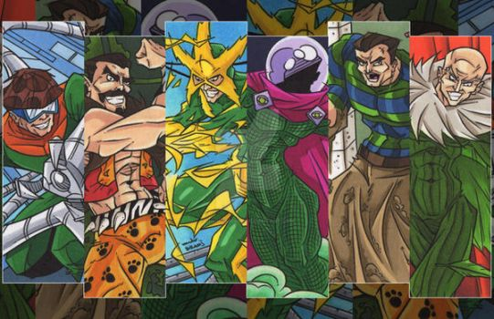 Sinister Six by dino-damage