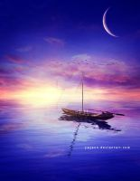 WaterScape Moon by jiajenn