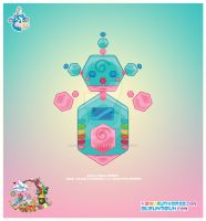Kawaii Robot 00110110 by KawaiiUniverseStudio