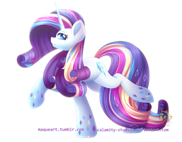 Rainbow Power Rarity by Calamity-Studios