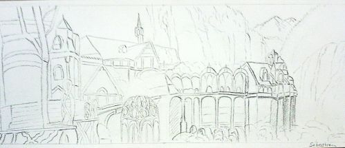 LOTR Rivendell - Fondcombe drawing Fan Art by Shadowslabs