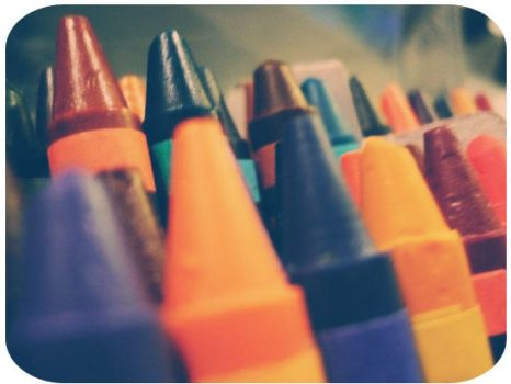 Colorful crayons by AlexMassacre