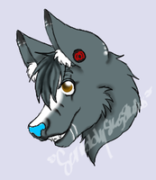 skye Anthro wolf form-1st icon by ScribblySkiesStudios