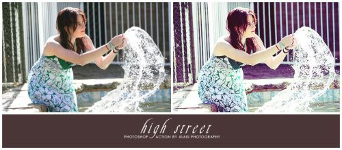 action: high street by alais-stock