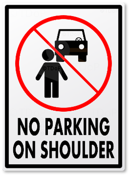 No Parking on...Shoulder by TheDuckofPower