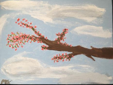 Blossom Branch Painting by Queen-of-Ice101
